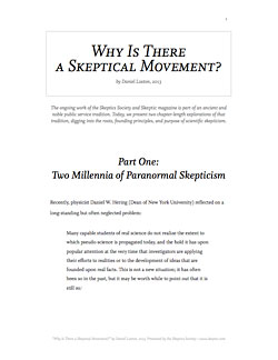 Cover of Why Is There a Skeptical Movement?